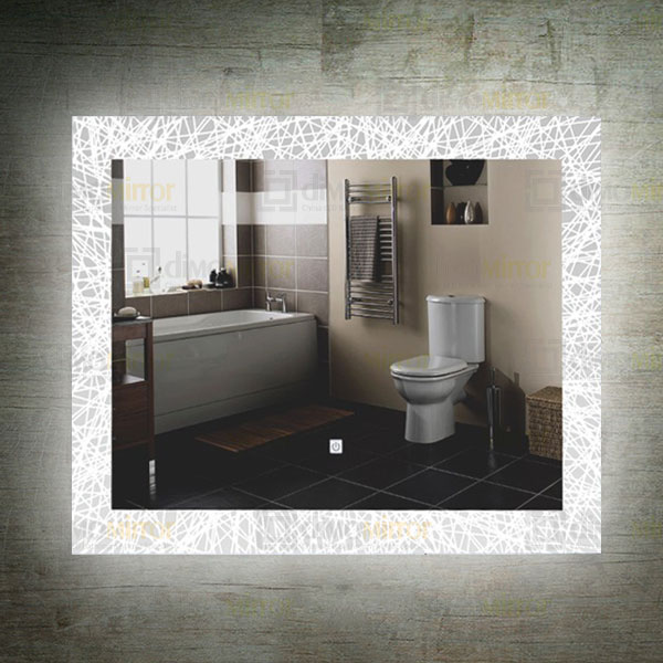 Featured LED Lighed Bathroom Mirror with Frosted Border