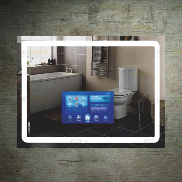 Smart tv mirror with android touch screen